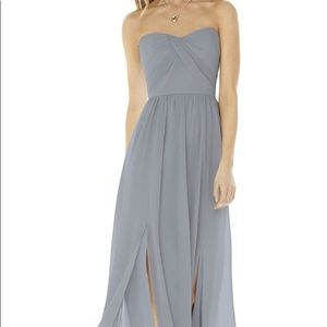 Social Bridesmaids Strapless Georgette Gown Sz6